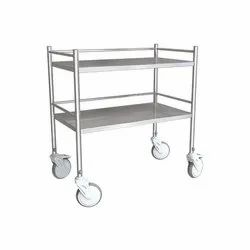 Hospital  Instrument Trolley - ( Ltr - 601) - Trolley With Stainless Steel Railing At 3 Sides