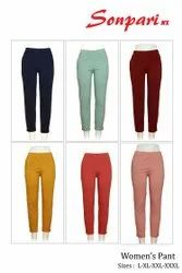 SONPARI Cotton Ladies Pants, Size: L XL XXL XXXL