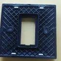 Polycarbonate Square Single Electric Switch Plate, Plate Module Size: 1 Module