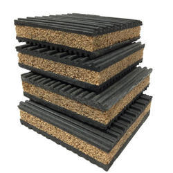 Black Rubber Anti Vibration Cork Pads