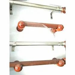 Wooden and Steel Designer Curtain Rod