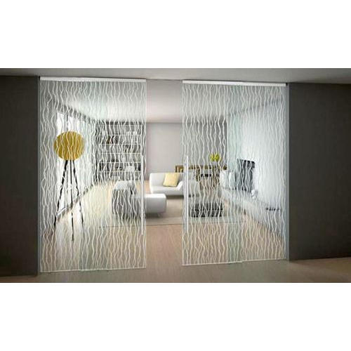 Patterned Modern Sliding Glass Door At Rs 145 Square Feet