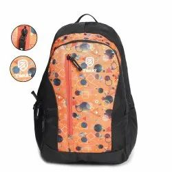 Geometry-Orange School Bag