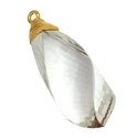 Clear Quartz Twister Shape Pendant