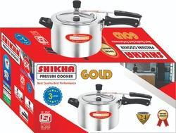 Shikha Aluminium 3 Liter Gold Pressure Cooker, For Home, Packaging Type: Box