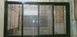 3 Track Glass With Mosquito Net Window