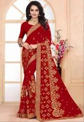 Beautiful Red Bridal Saree