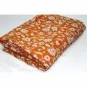 Vintage Indian Handmade Super Fine Kantha Quilt Cotton Blanket