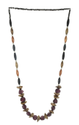 A/Golden With Amethyst Color Glass Beads Necklace