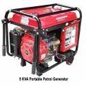 5 Kva Portable Petrol Generator, Voltage: 220-240 V