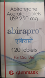 Abirapro Abiraterone Acetate Tablets USP 250 mg, Treatment: Prostate Cancer, Packaging Type: Box