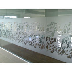 White Decoratve Frosted Glass Film, Thickness: 0.6 Mm, Packaging Size: 10 M