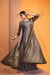 Angrakha Style Kurti With Koti