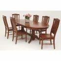 Solid Wood Brown Designer Dining Table