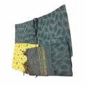 Ladies Unstitched Chanderi Katan Green Suit