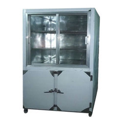Stainless Steel Glass Industrial Fridge, 220 V