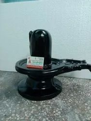 Black Marble Shivling Statue
