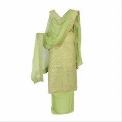Unstitched Chanderi Suit