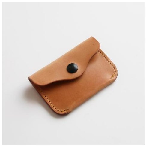 Male Brown Leather Coin Wallet
