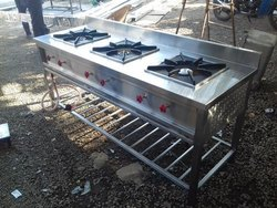 Stainless Steel 3 Burner Gas rang, for Hotel