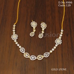 American Diamond Necklace Set