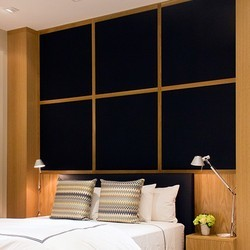 Bedroom Wardrobe With Wall Paneling Designs