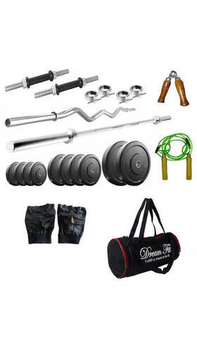 Kg weight plate with gym bag and home gym accessories at rs