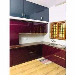 Wooden Melamine Modular Kitchen Wardrobe