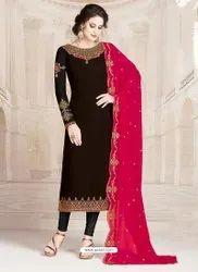 Cotton A-line Designer Churidar Suits, Dry clean