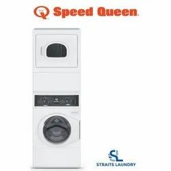 Speed Queen Commercial Heavy Duty Stack Washer and Dryer Electric  ATEE9ASP565XW01