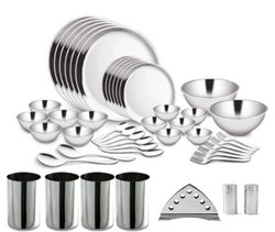47 PC Double Wall Dinner Set