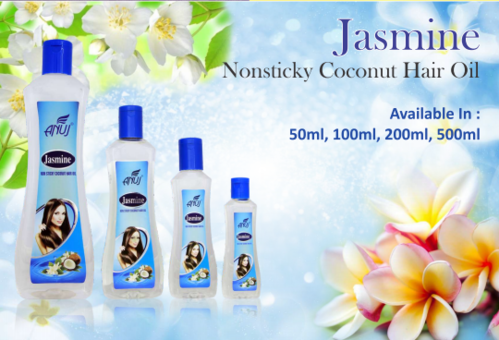 Nonsticky Jasmine Coconut Hair Oil