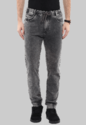 Grey Jogger Denims With Side