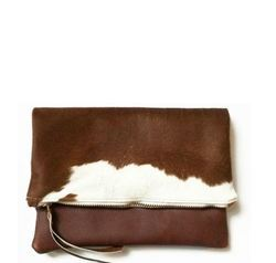 Hair-On Fold-Over Leather Ladies Purse