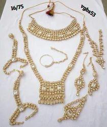 Brass Bridal Jewelry CZ Gold Plated