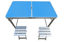 Folding Picnic Table-120-Separate Chairs-Blue