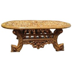 Wooden Brown Center Table, Warranty: Lifetime, Size: 4 X 2 Ft