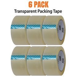 Packing Tape - Transparent - 6 Pack - 60 Meter