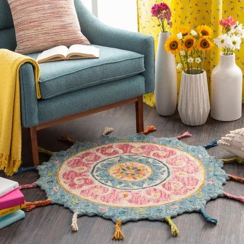 Wovendreams Wool T1031 3ft Round Rug, 10 Foot Round Rug