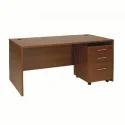 Dark Brown Wood Sc-ot102 Computer Table