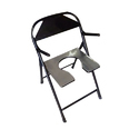 Snow Surgicals Black Aluminum Commode Chair