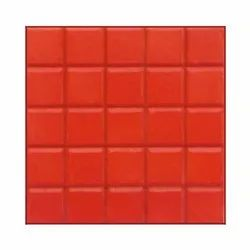 Red Porcelain Reflective Chequered Tile, Thickness: 8 - 10 mm