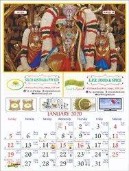 2020 English Calendars