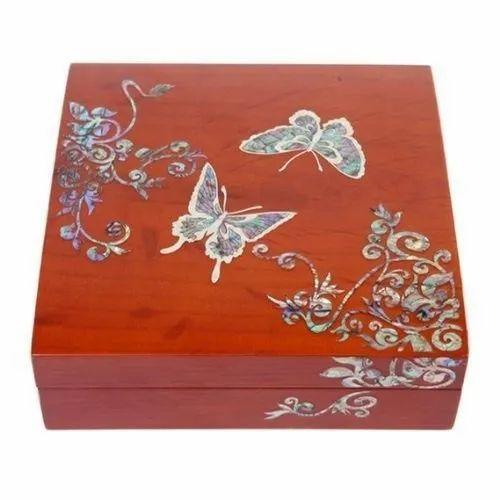 Wooden Decorative Jewelry Box