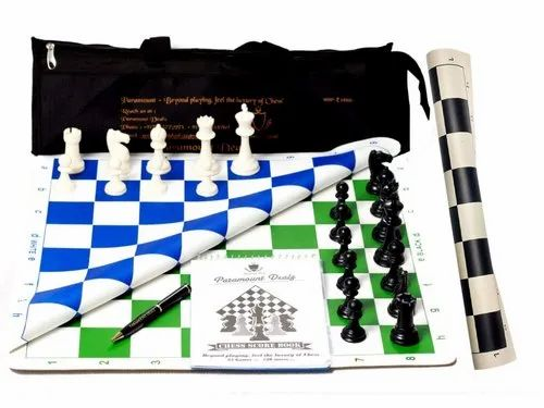 Paramount Dealz Professional Vinyl Chess Set Fide Standards with 2 Extra Queens -Combo of 3