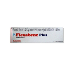 Aceclofenac And Cyclobenzaprine Hydrochloride Tablets, 5 X 10 Tablets