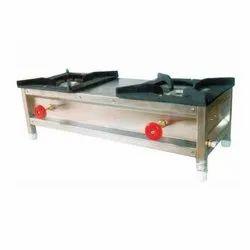 SSE Commercial Cooking Range Two Burner Gas Stove, For HOTEL & RESTAURANT