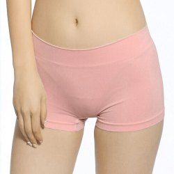 Light Pink Plain Ladies Short Lycra Cotton Panties, Size: L to XXL