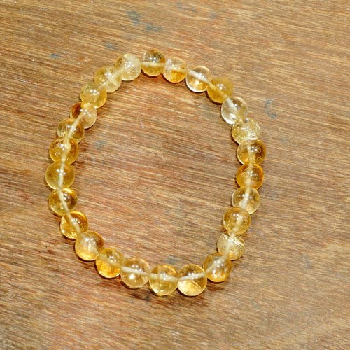 Citrine Stone Elastic Bracelet