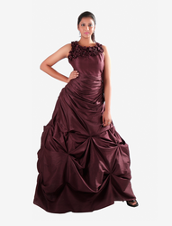 Wine Flower Neck Cindrella Gown, 38 And 42